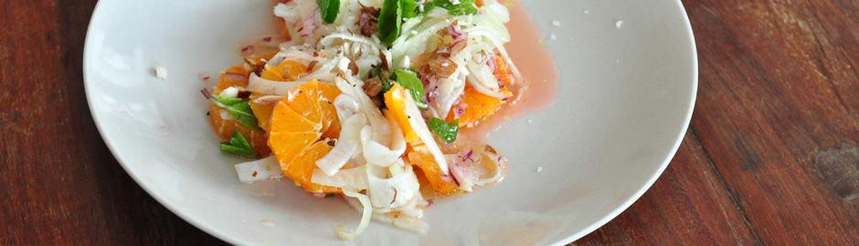 Orangen-Fenchel-Salat/Seiser